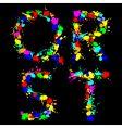 Alphabet color drop qrst vector image vector image