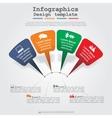 Modern arrow infographics element layout vector image