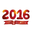 2016 New year cardbackgroundRed Polygons figures vector image