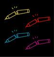 A set of Broken pencils- abstract logo vector image