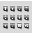 Grey ribbons with number set vector image