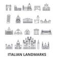 italian landmakrs italian italian landscape vector image