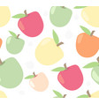 seamless cute apple pattern in vector image
