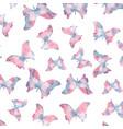 seamless watercolor butterflies pattern vector image