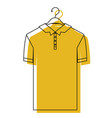 yellow watercolor silhouette of polo shirt short vector image