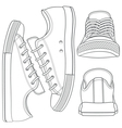 set with sneakers gumshoes vector image