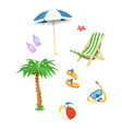 summer time accessory vector image vector image