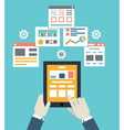Flat mobile application optimization programming vector image