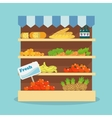 Supermarket food collection vector image