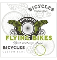 Vintage elements with Bicycle label set template vector image