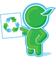 green hero recycle symbol vector image vector image