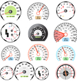 speedometers set vector image vector image