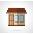 Store building flat color design icon vector image