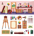 art studio interior design concept vector image