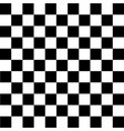 black and white checkered background vector image