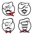 chef icons set vector image