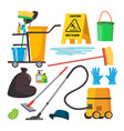 cleaning supplies professional commercial vector image