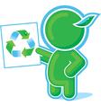 green hero recycle symbol vector image