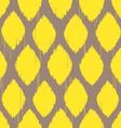 ikat lemon yellow pattern vector image