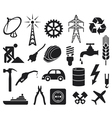 industry icons collection vector image
