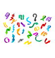 Various colorful arrows vector image