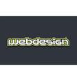 webdesign web design word text logo design green vector image