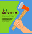 woodcutting colorful poster vector image