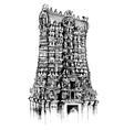 Meenakshi Amman Temple vector image vector image