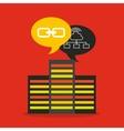 big data center flat icons vector image