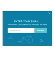 Design of the website form for email subscribe vector image