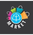 logo purchases of goods all over the world vector image