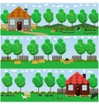set of countryside concept backgrounds with vector image vector image