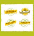 local farm logo local farm food concept local vector image