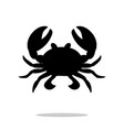 crab black silhouette aquatic animal vector image