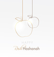 happy rosh hashanah holiday card with hanging vector image