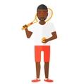 Big tennis player vector image