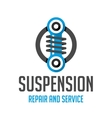 Suspension template logo vector image