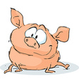 cute pig character sitting on white background vector image