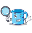 detective measuring cup character cartoon vector image