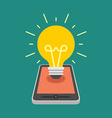 Flat design business concept Creative idea vector image