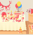 happy birthday concept cartoon style vector image