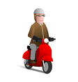 Man on scooter vector image