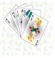 Monetary and Financial poker straight vector image