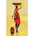 Native african women vector image