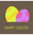 Two easter eggs inside paper Card vector image