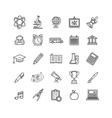 School Outline Icon Set vector image