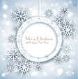 shiny holiday background with snowflakes vector image