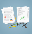 Documents pile concept vector image