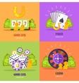 Set of Gambling Conceptual Banners vector image