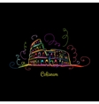 Sketch colorful of Roman Colosseum vector image